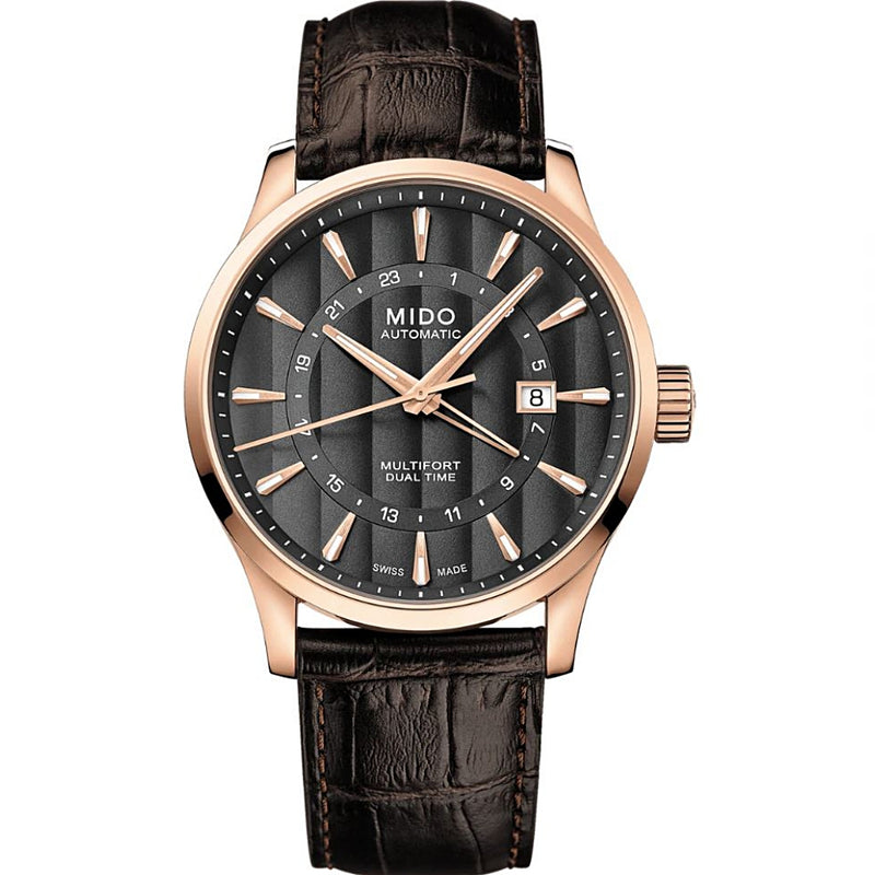 RELOJ MIDO MULTIFORT DUAL TIME M0384293606100