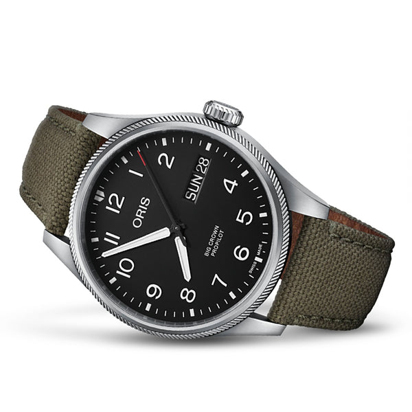 ORIS BIG CROWN PROPILOT BIG DAY DATE CORREA VERDE OLIVA  OR75277604164PV