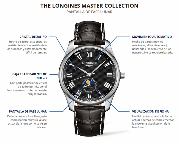 MASTER  COLLECTION BLACK DIAL MOONPHASE AUTOMATIC