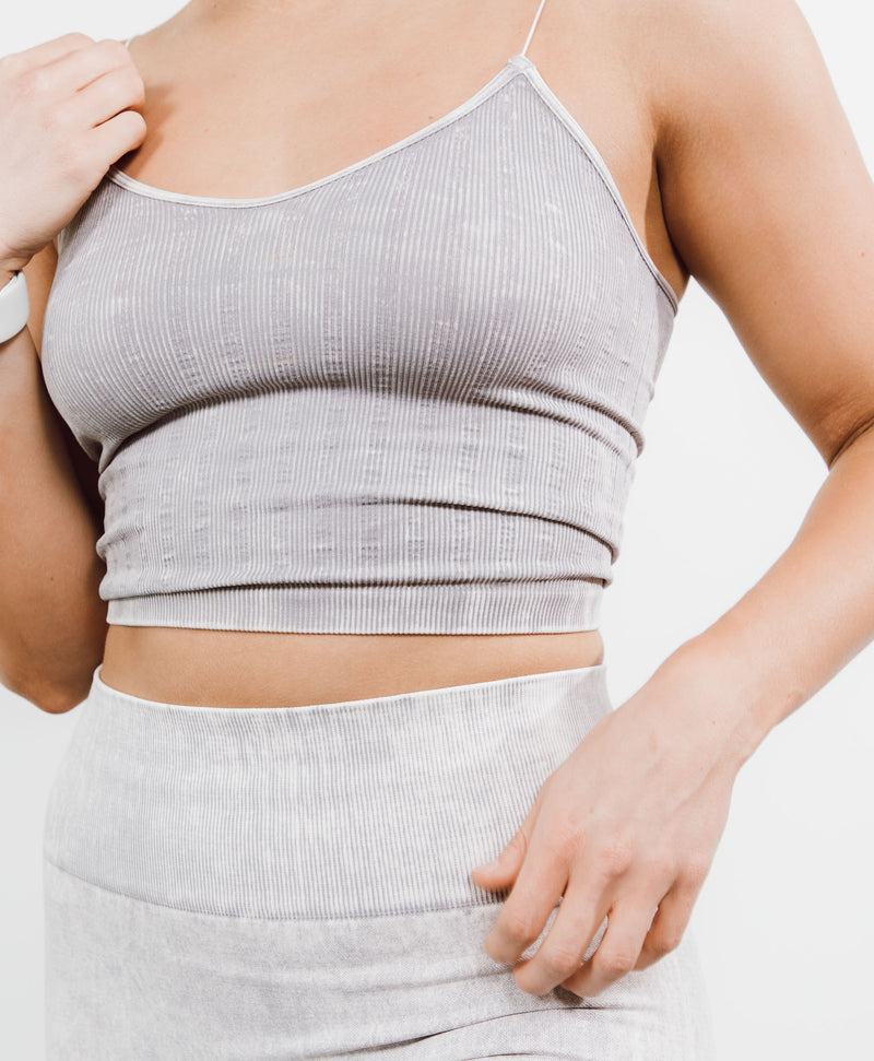 Lightning Grey Crop Top