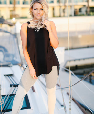 Midnight Tied Top in Black