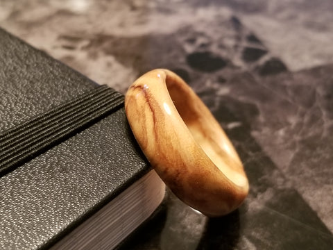 Figured Olive Wood Ring
