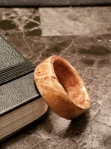 Maple Burl Wood Ring
