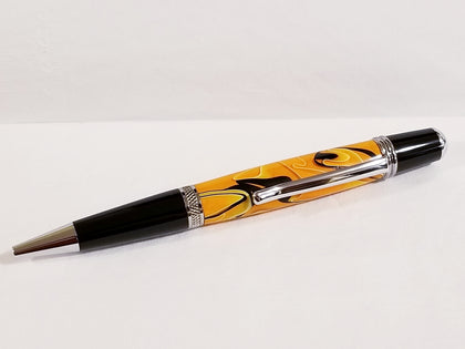 Halloween Orange Handmade Acrylic Pen