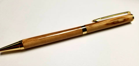 Handmade Olive Wood Slim Pen