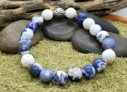 Soothing Sodalite Hand Crafted Diffuser Bracelet