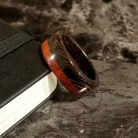 Wenge and African Padauk Wood Ring