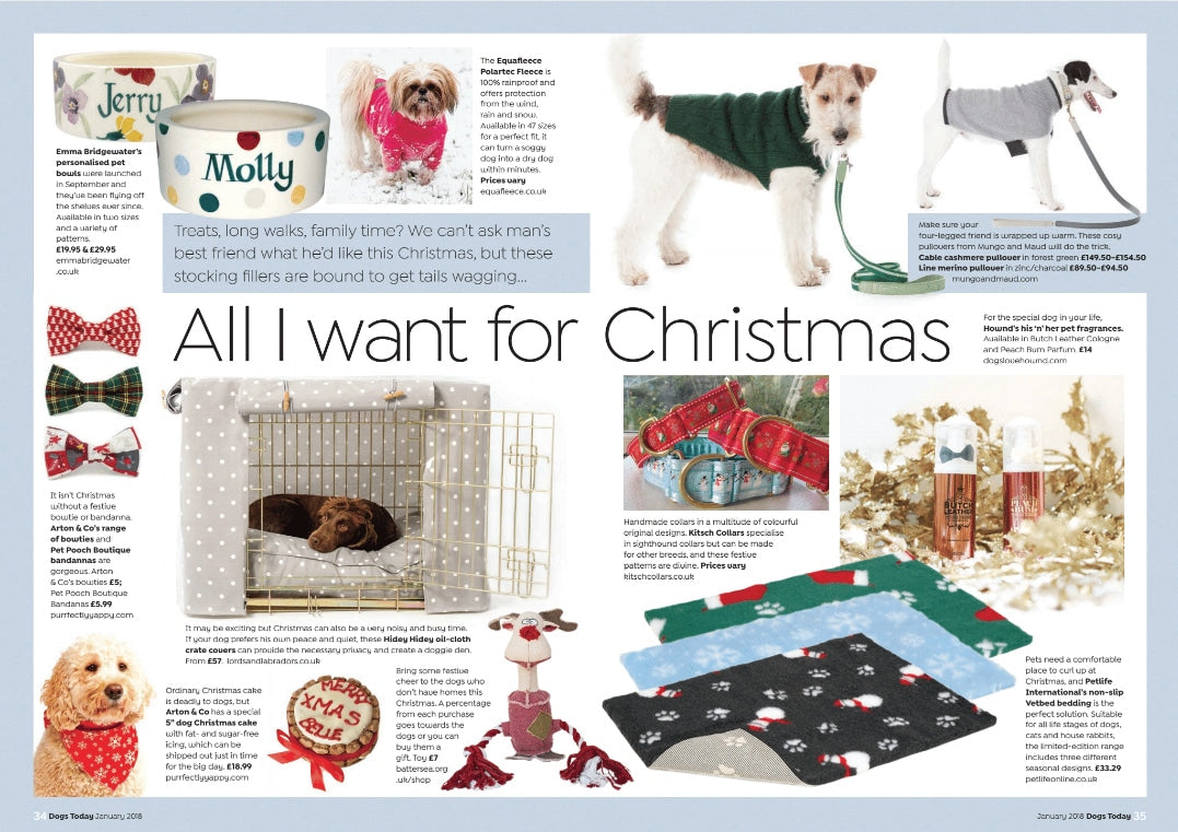 Dogs Today Magazine Article - pet gift guide featuring lords and labradors products