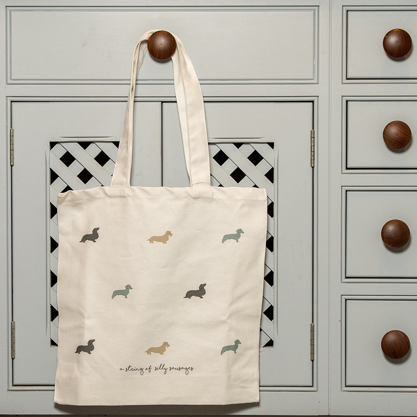 Silly Sausages Canvas Tote