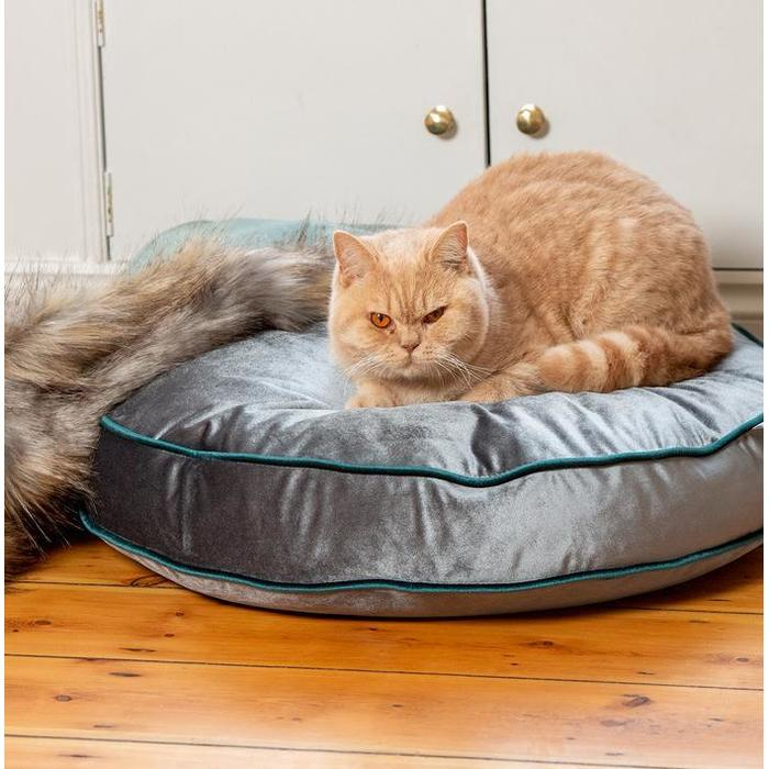 Luxury Velvet Cat Bed