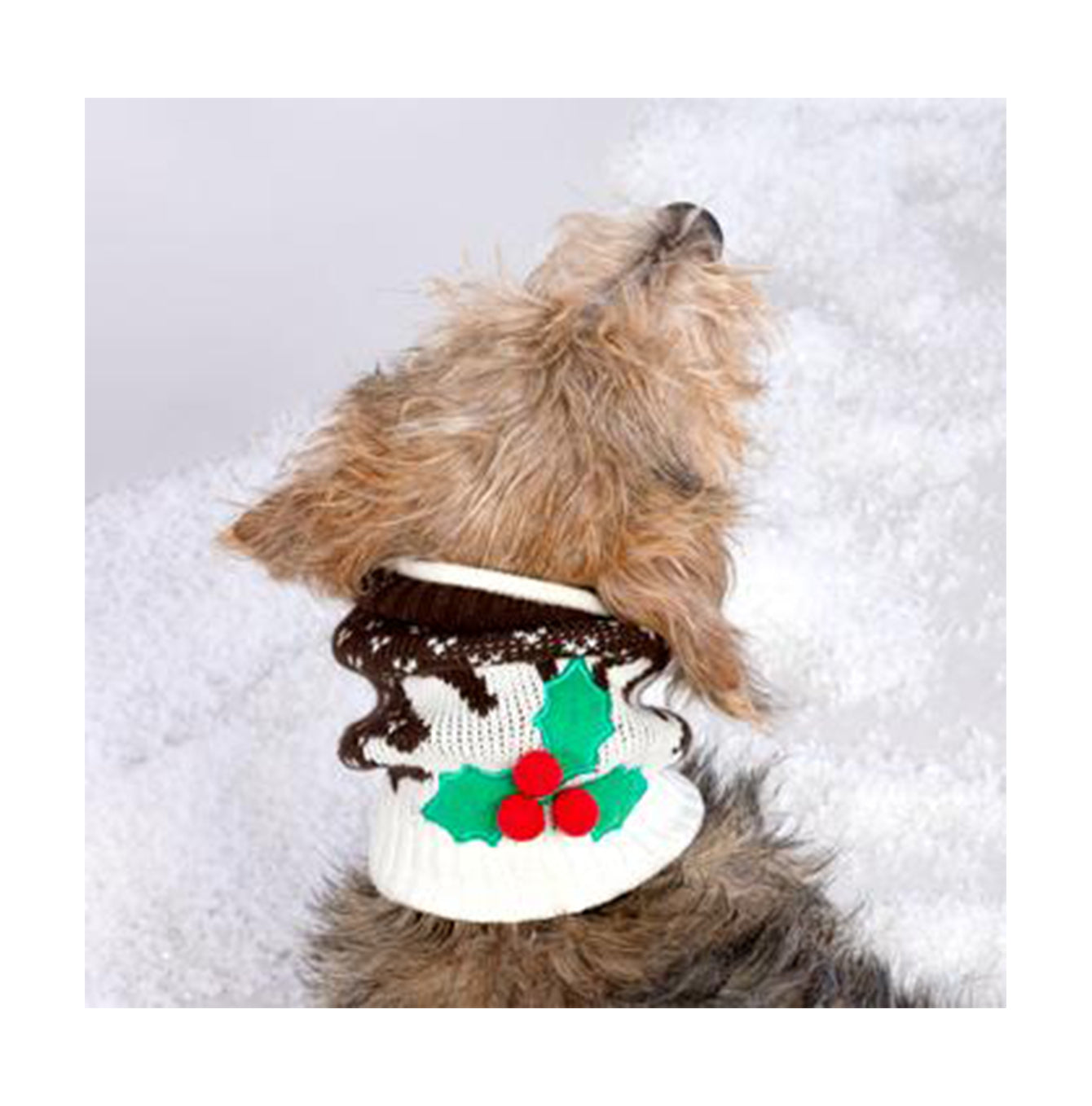 christmas pudding dog snood