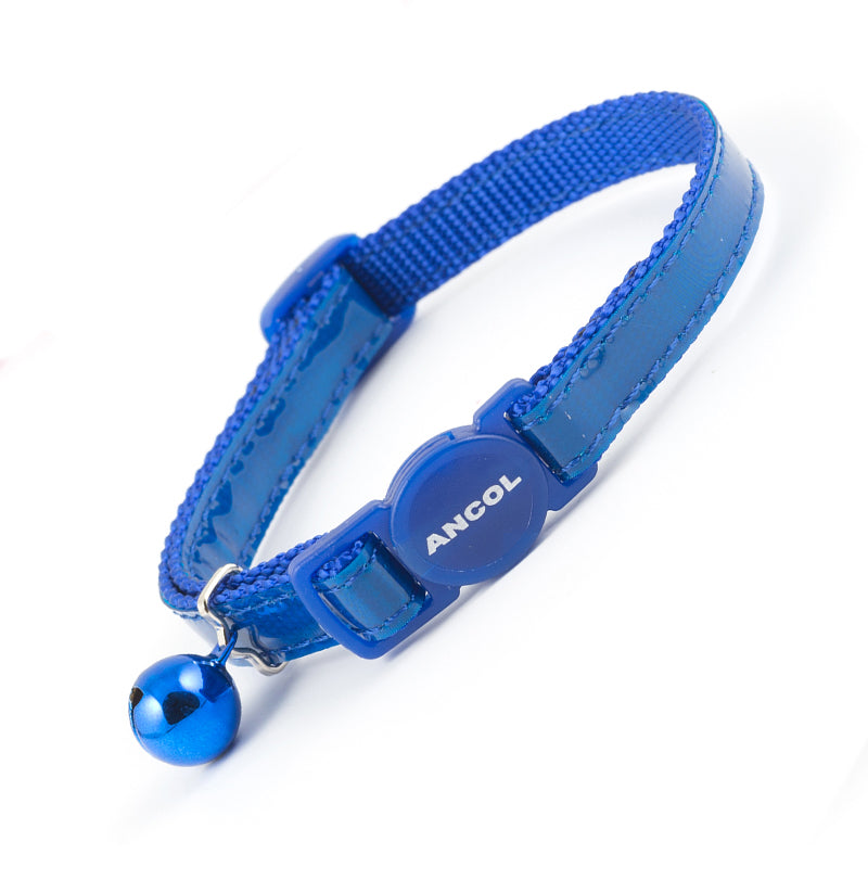Ancol Gloss Reflective Cat Collar in blue