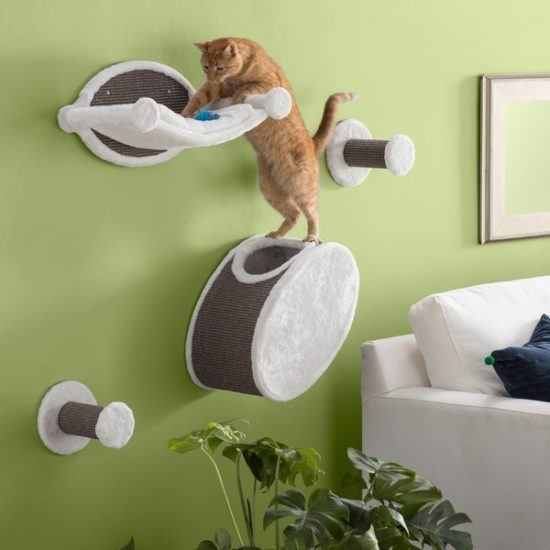 Trixie wall mounted cat steps.