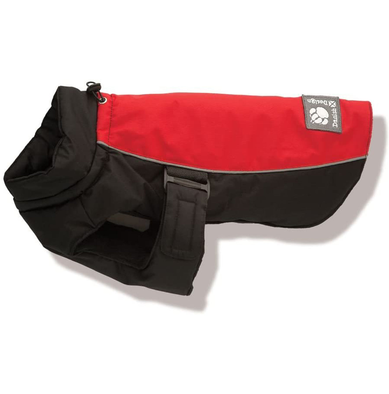 Danish Design Sports Luxe Winter Dog Coat in Red