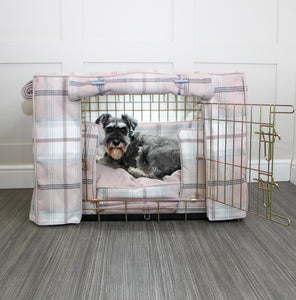 Dog Crate Cover in Balmoral Blush Tweed by Lords & Labradors