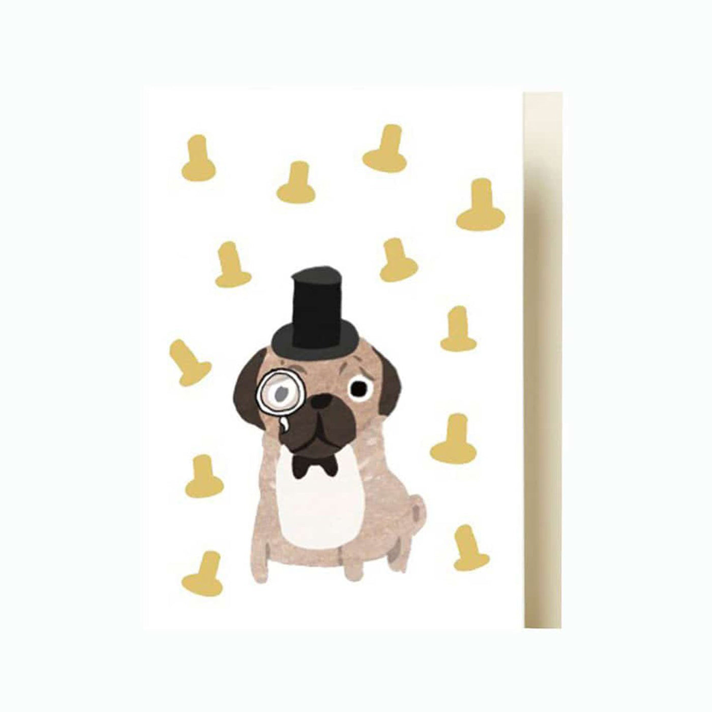 Pug Card by Fenella Smith