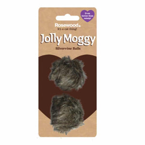 Rosewood Jolly Moggy Silvervine Balls Cat Toys