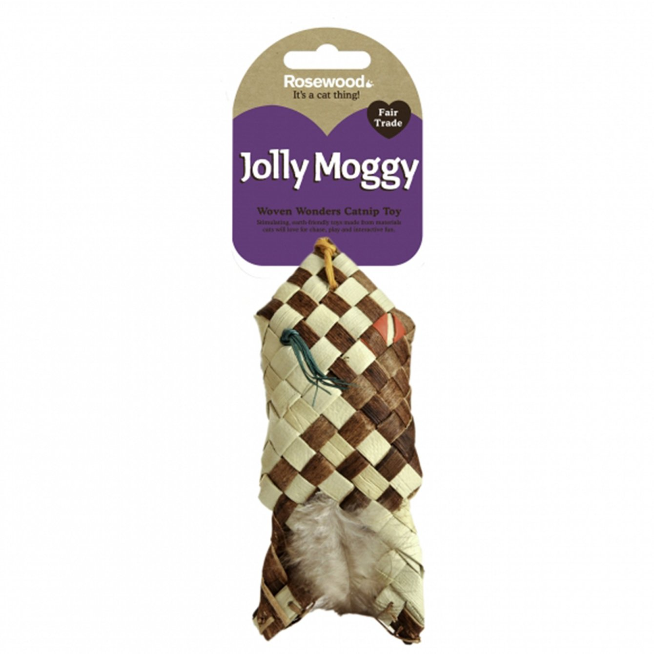 Jolly Moggy Woven Wonders Fish Cat Toy