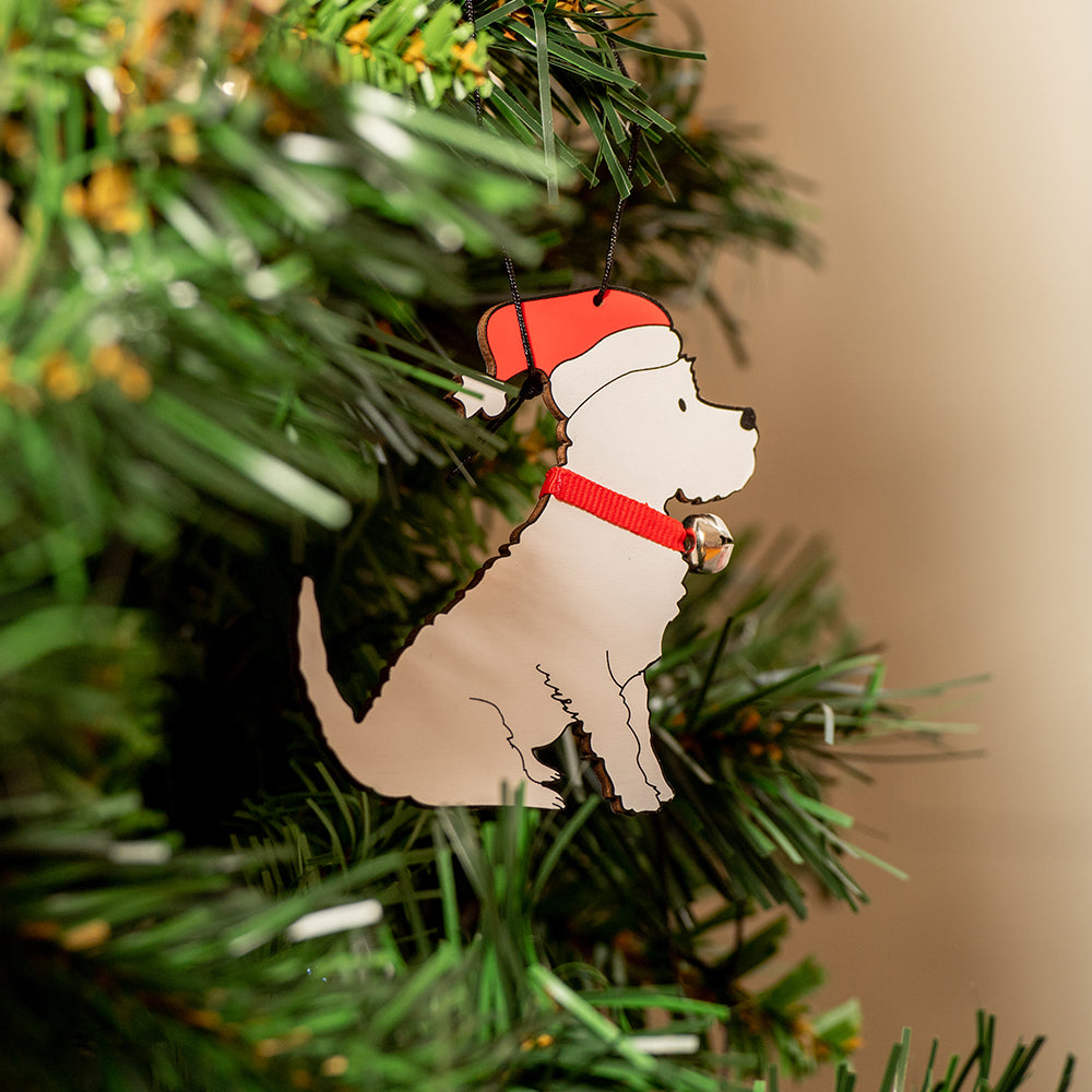 Westie Christmas Decoration by Sweet William
