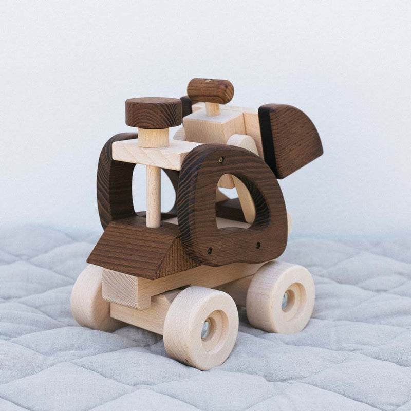 Warren Hill Goki Nature Wheel Loader Wooden Toys