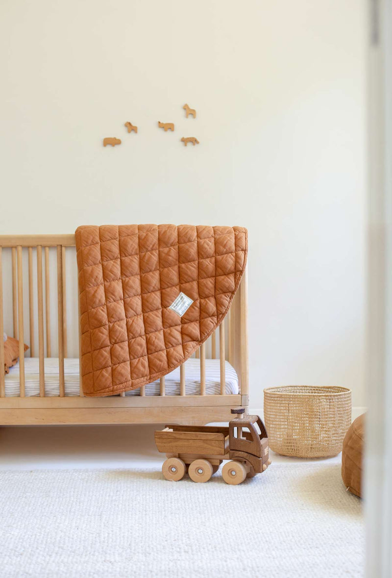 Warren Hill Linen Baby Play Mat | Rust Colour