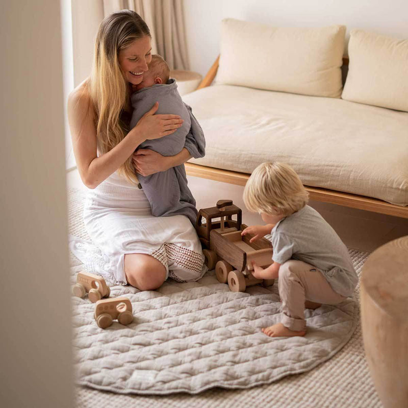 Warren Hill Linen Baby Play Mat | Natural Colour