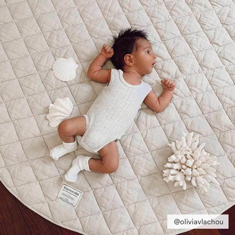 Warren Hill Linen Baby Play Mat | Natural Colour | Oliviavlachou