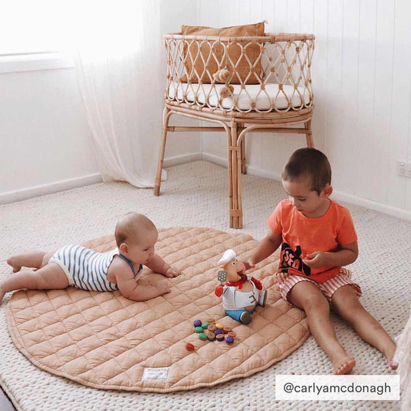 Warren Hill Soft Linen Baby Play Mat | Oat Colour | carlyamcdonagh