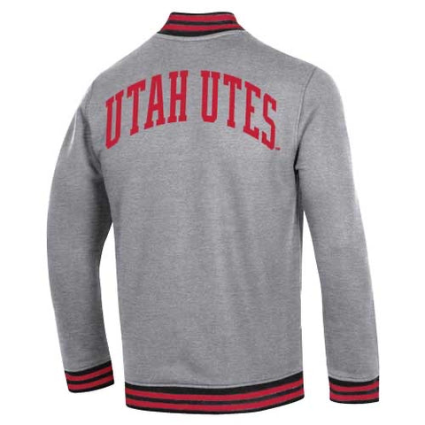Utah Under Armour Gray Double Knit Quarter Zip 150 Yrs
