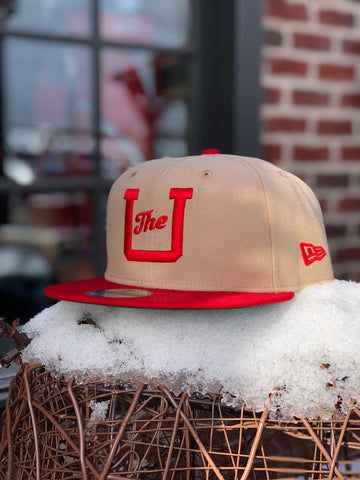 Utah New Era Vault U Beige/Red SnapBack