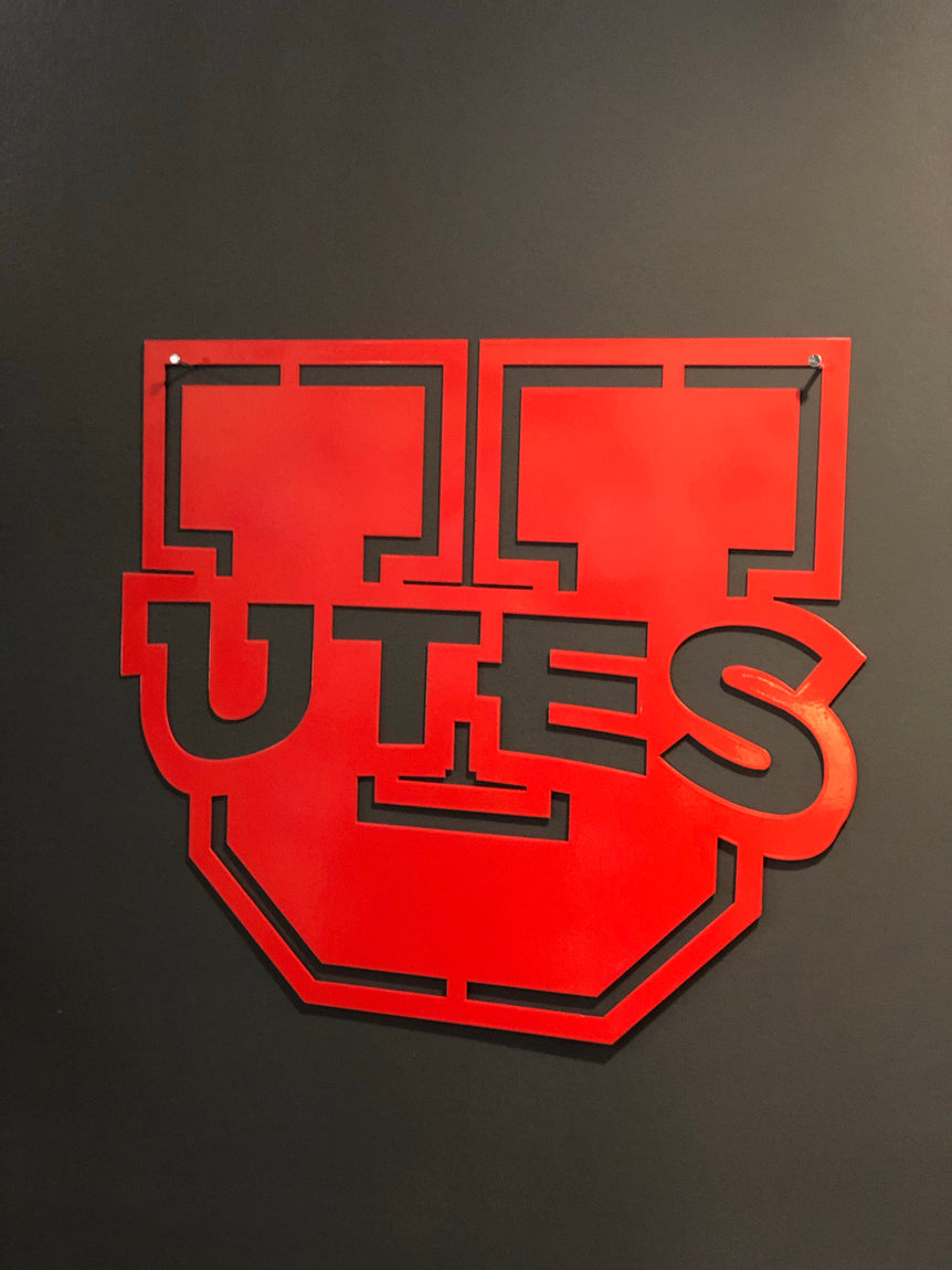 "Utah Gameday Ironworks 16"" Utah Utes Sign - Utah Sports Collective"