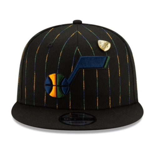 Utah Jazz New Era 950 Donovan Black Note Hat Snapback
