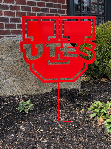 UTAH Gameday Ironworks  U Utes Yard Art With Stake - Utah Sports Collective