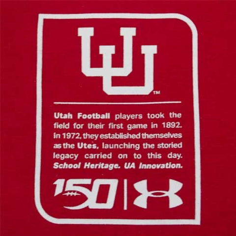 Utah Under Armour Red #1 Utes Jersey 150 years