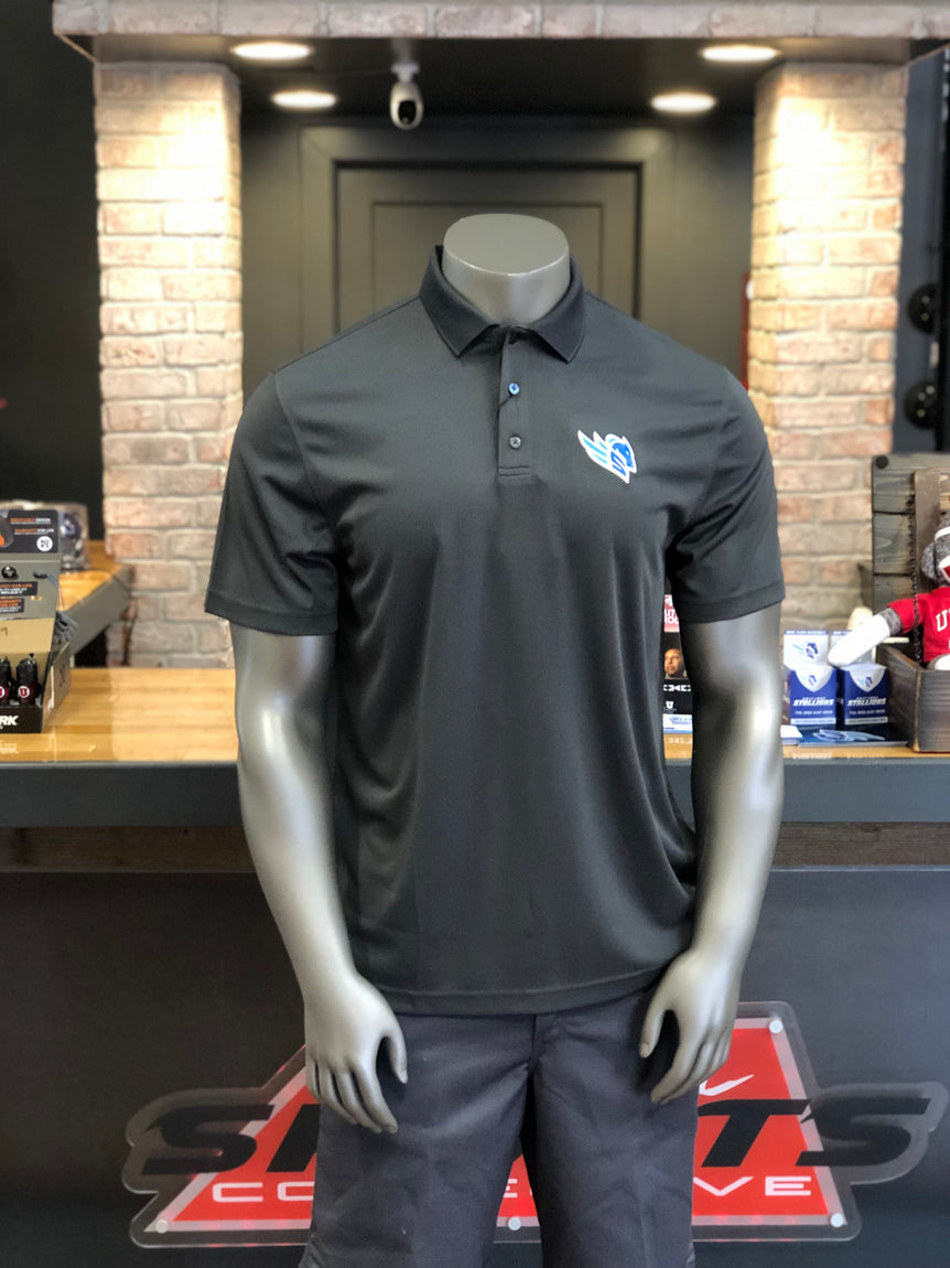 Salt Lake Stallions Levelwear Charcoal Omaha Men's Polo - Utah Sports Collective