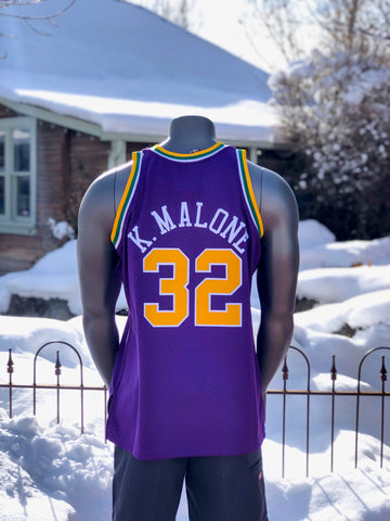 Jazz Mitchell And Ness Purple Karl Malone Throwback Jersey - Utah Sports Collective