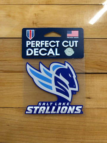 "Salt Lake Stallions 4"" Decal - Utah Sports Collective"