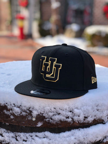 Utah New Era UU Black Gold SnapBack hat