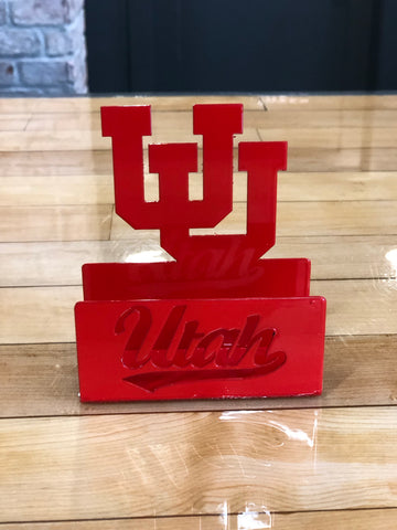 Utah Gameday Ironworks UU Business Card Holder - Utah Sports Collective