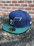 Jazz New Era 5950 hat note 2tone Fitted - Utah Sports Collective