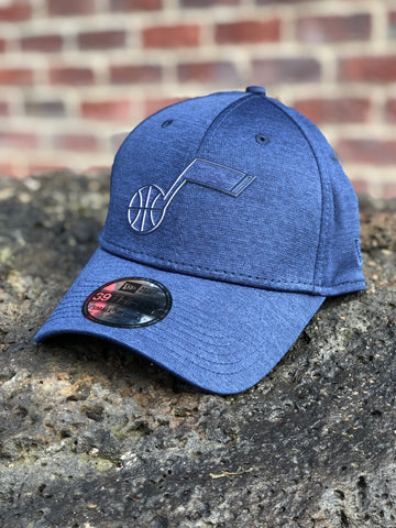 Jazz New Era Navy Logo Shade Fitted Hat - Utah Sports Collective
