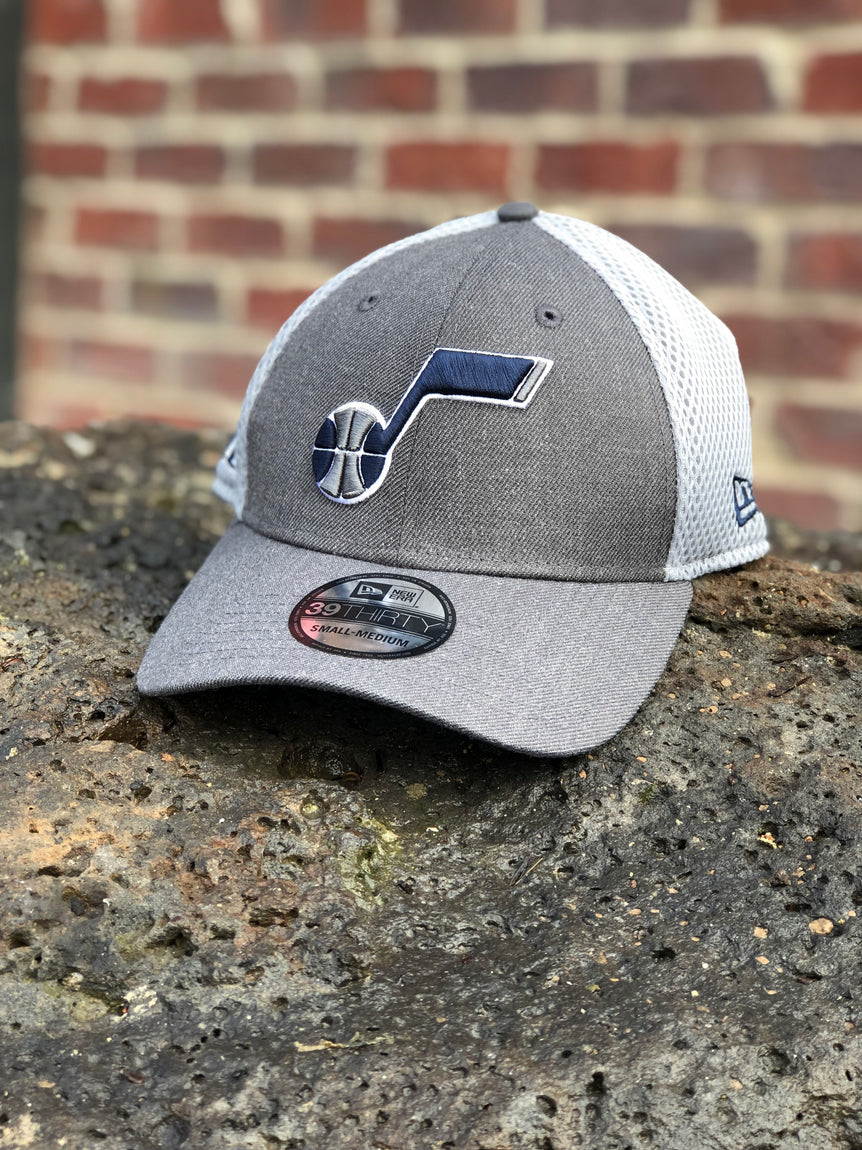 Jazz New Era Grey Note Mesh Stretch Fit - Utah Sports Collective
