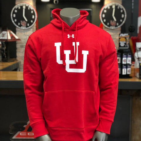 Utah Under Armour Red Originators Vault U Pullover Hoodie 150 Years of College Football