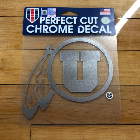 Utah Chrome Decal 6x6 - Utah Sports Collective
