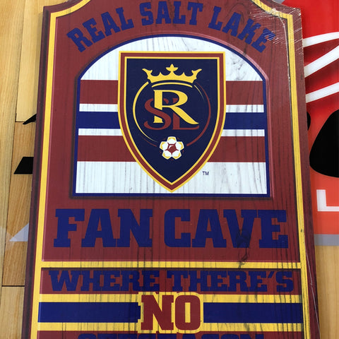 RSL Wooden Fan Cave Sign - Utah Sports Collective