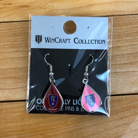 RSL Teardrop Earring - Utah Sports Collective