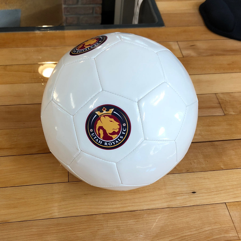 Royals Size 5 White soccer ball - Utah Sports Collective