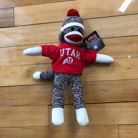 "Utah Drum and Feather 11"" Sock Monkey - Utah Sports Collective"