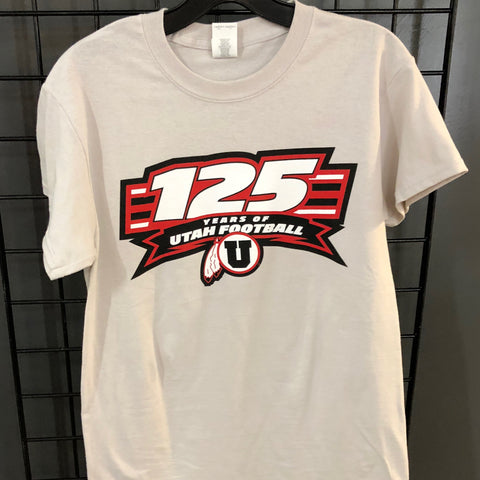 Utah 125 Year Grey T shirt - Utah Sports Collective