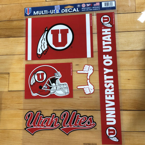 Utah Multi-Use Decal 5pk - Utah Sports Collective
